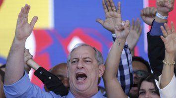 En carrera. El candidato de centroizquierda Ciro Gomes, aún sin su vice.