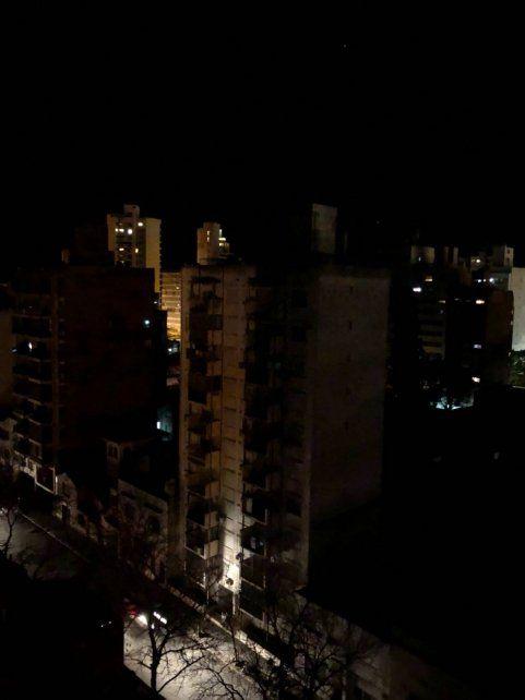 Los edificios a oscuras