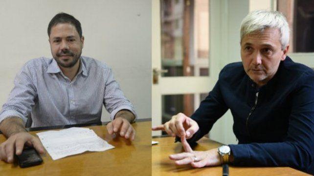 El hoy secretario Rodolfo Di Pollina y el actual vicepresidente segundo Ricardo Carloni.