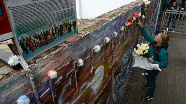 Uno de los homenajes a las víctimas de la explosión del 6 de agosto de 2013.