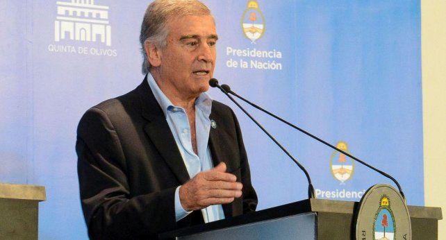 El ministro de Defensa Oscar Aguad.