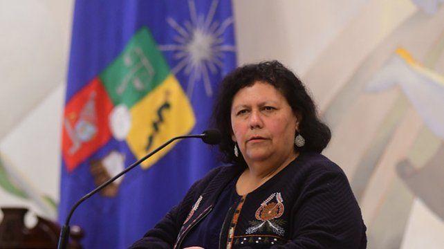 La presidenta de la Agrupación de Familiares de Detenidos Desaparecidos