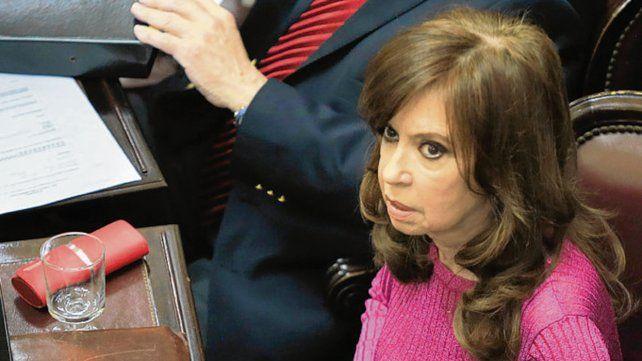 Cristina fue ayer al Senado