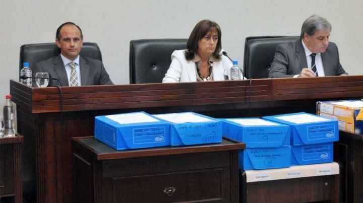 Los magistrados que juzgarán al Gordo Maradona.
