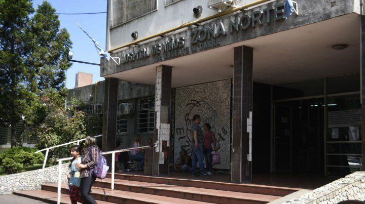 El hospital de Niños Zona Norte. El sindicato denuncia una situación compleja.