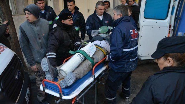 El obrero cayó de un sexto piso en Balcarce al 1400