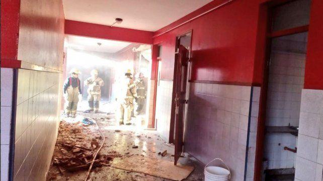 Así quedó la escuela de Moreno tras la explosión.