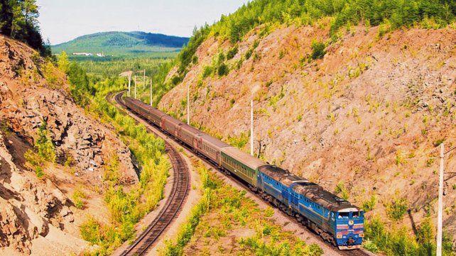Interminable. La red del ferrocarril transiberiano conecta Moscú con las provincias del Lejano Oriente ruso