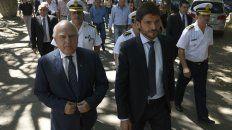 El gobernador y su ministro de Seguridad, hoy estuvieron en el Centro de Justicia Penal.