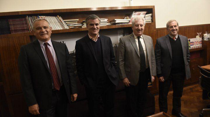Directivos de La Segunda estuvieron junto a autoridades de La Capital.