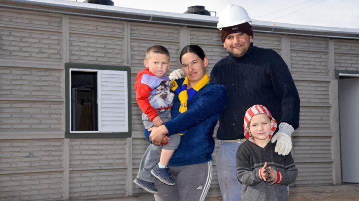 Hogar. Las viviendas fueron construidas por los propios vecinos.