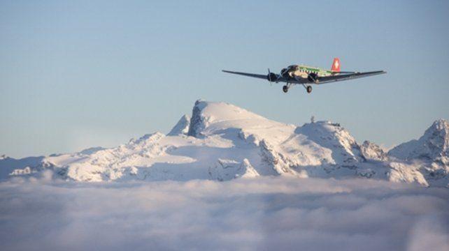 Un avión JU-52 similar al que se estrelló el sábado por la tarde en Suiza.