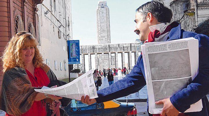 Entrega de declaraciones. Frente al Palacio de los Leones