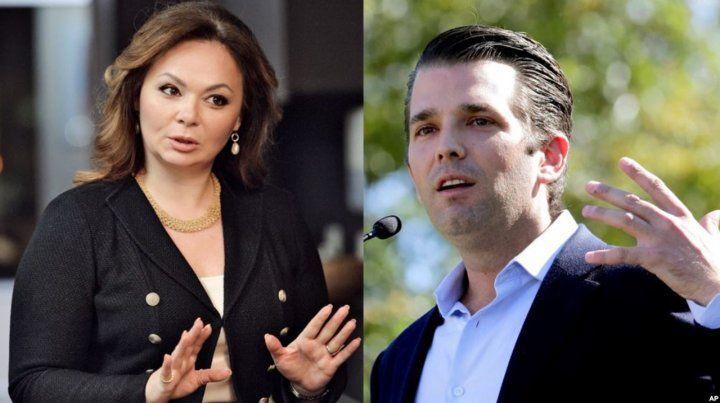 Trump insistió en un tuit con que no sabía en aquel  momento sobre la reunión entre su hijo Donald Jr. y Natalia  Veselnitskaya.
