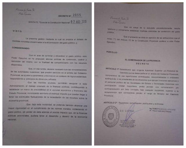 Lifschitz firmó el decreto que le pone un techo salarial a los funcionarios políticos