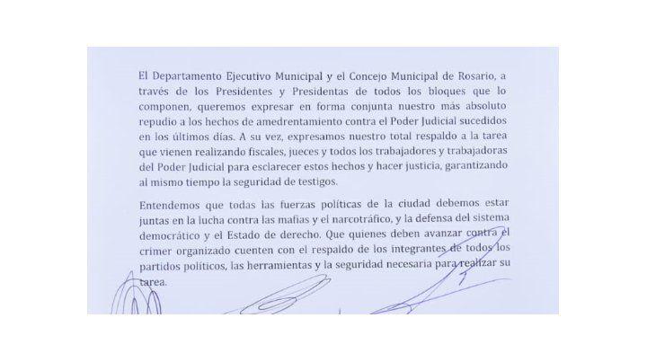 La intendenta y los concejales, contra los ataques a los jueces