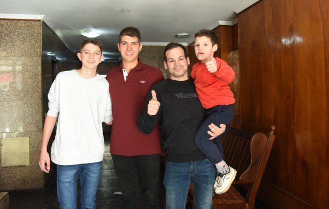 La familia de Franco, la alegría el día después del rescate.