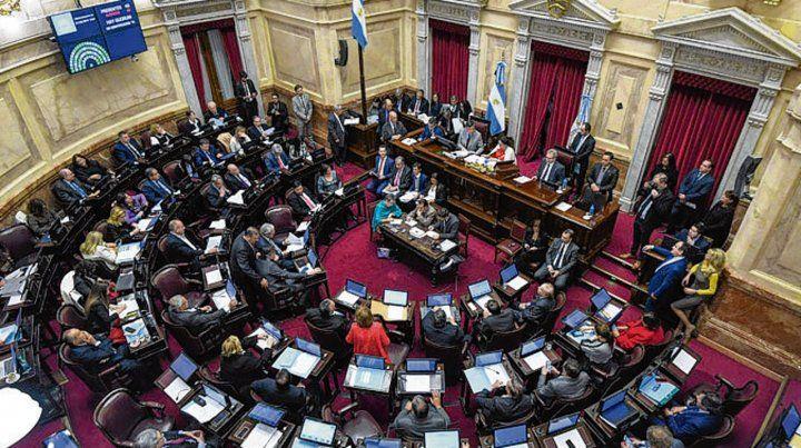 Escenario decisivo. El recinto del Senado de la Nación.