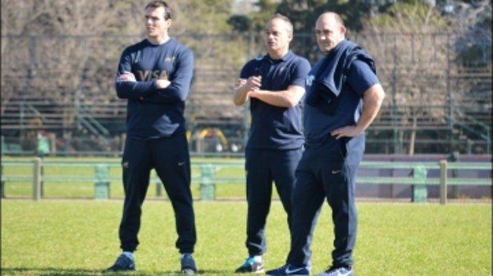 Nuevo staff. Mario Ledesma supervisó la primera práctica con Los Pumas. Junto a él estarán Fernández Miranda