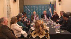 Reunión. El gobernador Lifschitz y el ministro Silberstein (Justicia), ayer en el Colegio de Magistrados de Rosario.