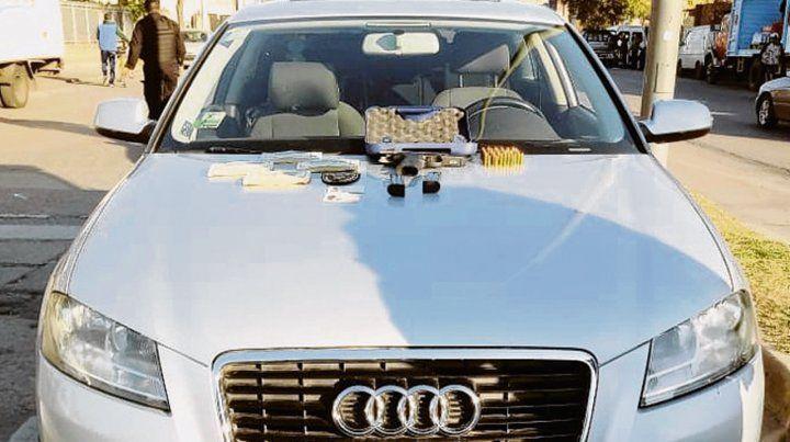 El Audi. Burgos fue detenido en este auto hace tres semanas.