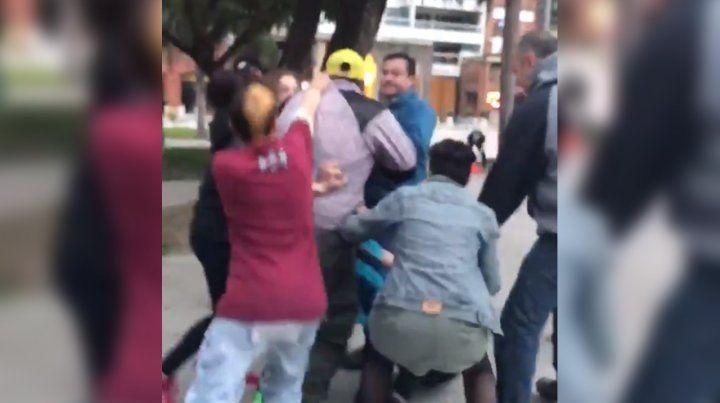 A horas de la votación, hubo incidentes en una marcha por el aborto en Santa Fe
