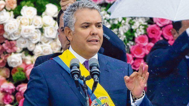 Asunción. El derechista Iván Duque reemplaza al impopular Juan Manuel Santos en la presidencia.