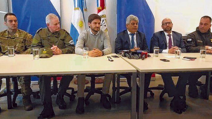 Conferencia de prensa. El fiscal Baclini y el ministro Pullaro se encargaron de dar a conocer las novedades.