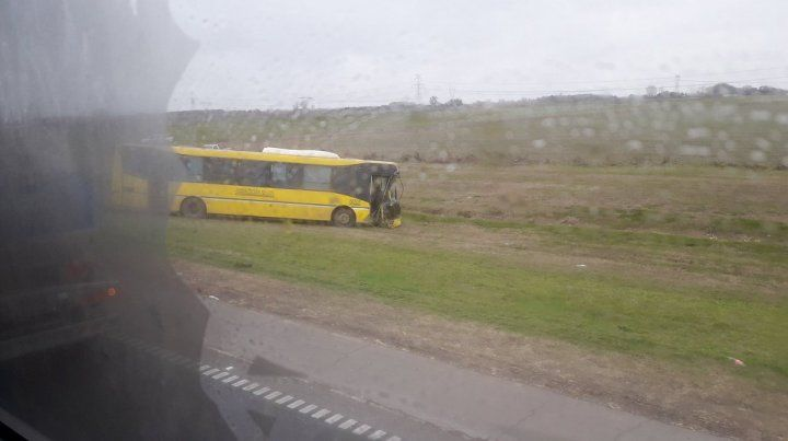 Violento choque en la autopista a Buenos Aires producto del viento