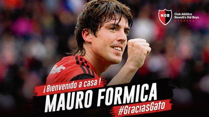 La bienvenida del club y el agradecimiento al Gato Formica