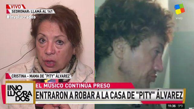 Desvalijaron el departamento donde vivía Pity Álvarez