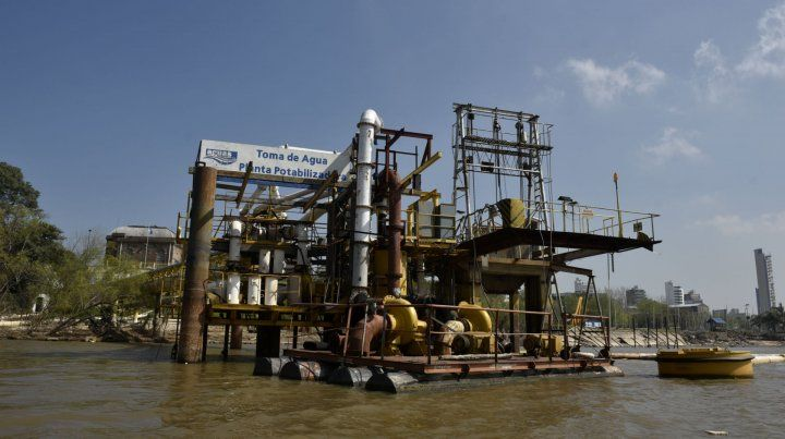 La planta potabilizadora que Aguas Santafesinas tiene en Rosario. La empresa brinda el servicio en 15 localidades de la provincia.