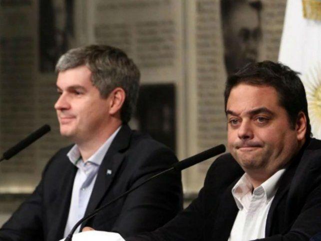 Ministros. Triaca y Peña recibieron a una delegación cegetista.