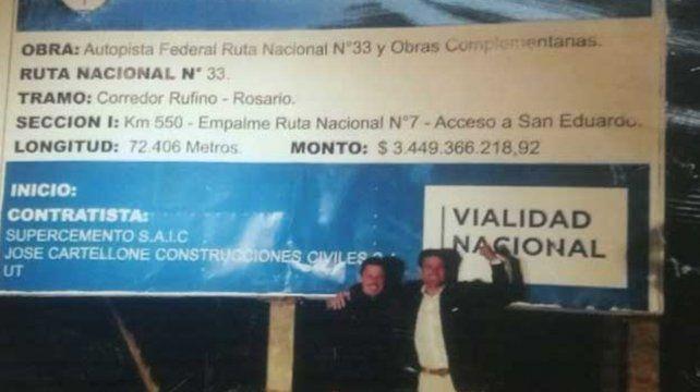 Hace semanas. El intendente macrista de Rufino había anunciado el inicio de la obra frente al cartel.