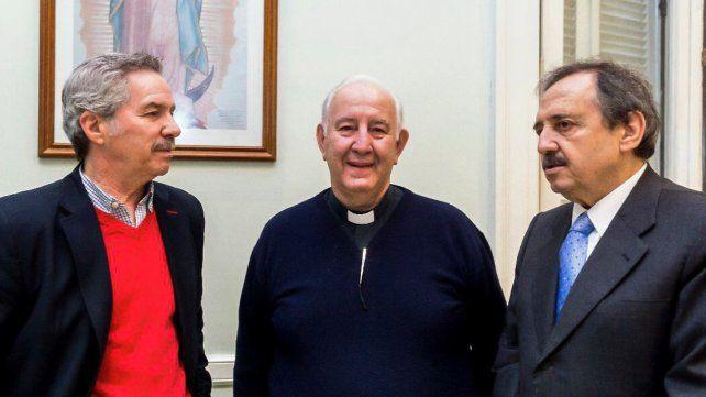Solá y Alfonsín coincidieron en una reunión de la Pastoral Social Porteña.