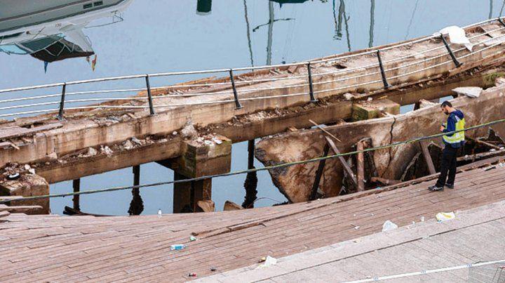 Vigo. La plataforma cayó al mar durante el festival musical O Marisquiño.