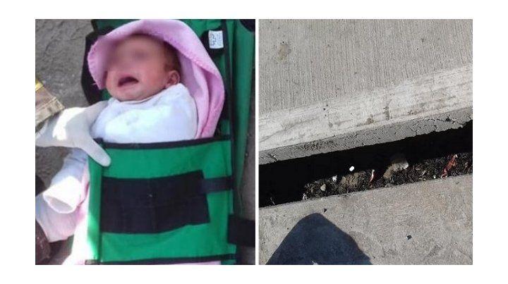La bebé cayó por una alcantarilla y pudo ser rescatada.