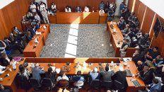 Sala. Una imagen del juicio a Los Monos. Allí mismo es la audiencia hoy, solo que sin asistencia de imputados.
