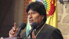 Festejo. El presidente Evo Morales.