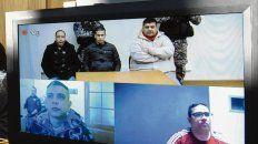 Presos. Jure, Monchi, Salomón, Chamorro y Guille, por videoconferencia.