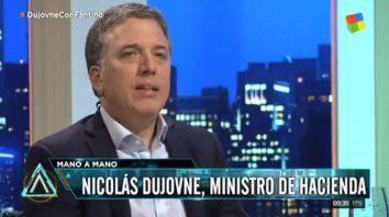Dujovne dijo que los cuadernos van a tener impacto en la economía