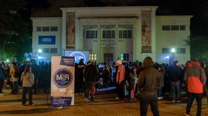 La explanada del Museo Castagnino será escenario de otra colecta del Movimiento Solidario Rosario.