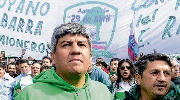 Pablo Moyano, de Camioneros.