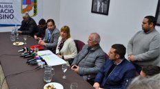 Junto a intendentes peronistas, la diputada expresó su preocupación por la eliminación del fondo sojero.