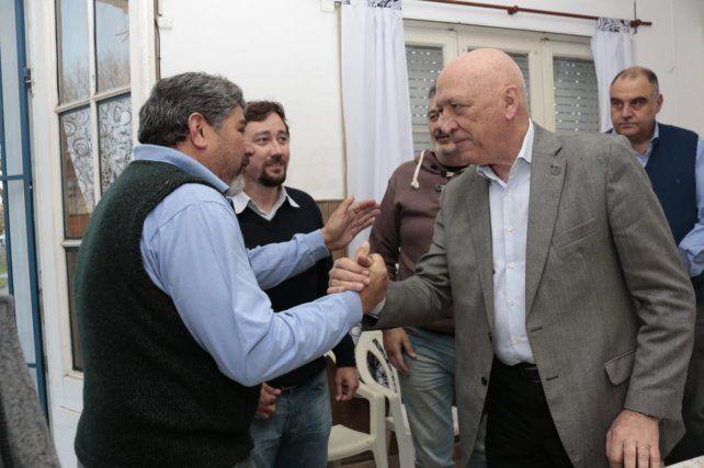 Bonfatti visitó El Trébol