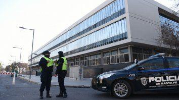 El Centro de Justicia Penal, donde se realizó a la audiencia esta mañana.