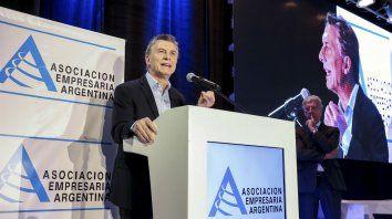 El presidente Mauricio Macri participó de un encuentro organizado por la Asociación Empresaria Argentina (AEA).