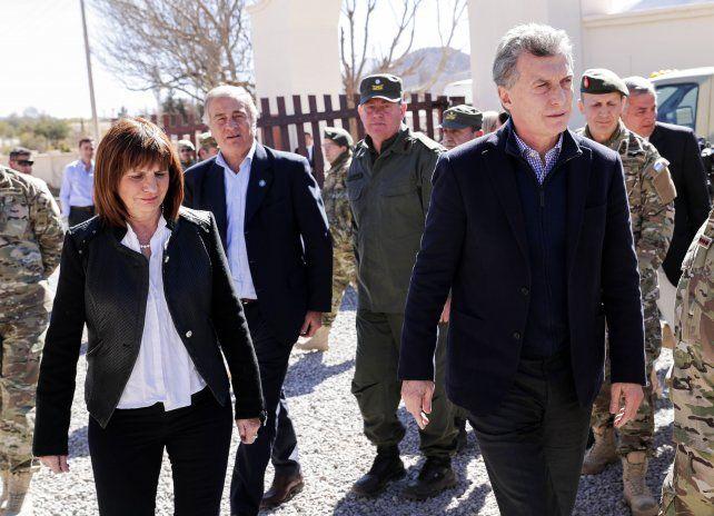 El presidente Mauricio Macri y la ministra de Seguridad Patricia Bullrich