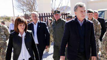 El presidente Mauricio Macri y la ministra de Seguridad Patricia Bullrich, hoy en Jujuy.