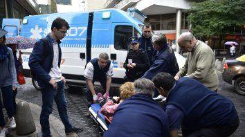 Acción. Una ambulancia del Sies, de las 15 que hay en la ciudad.